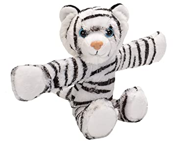 Amazon Com Wild Republic Huggers White Tiger Plush Toy Slap