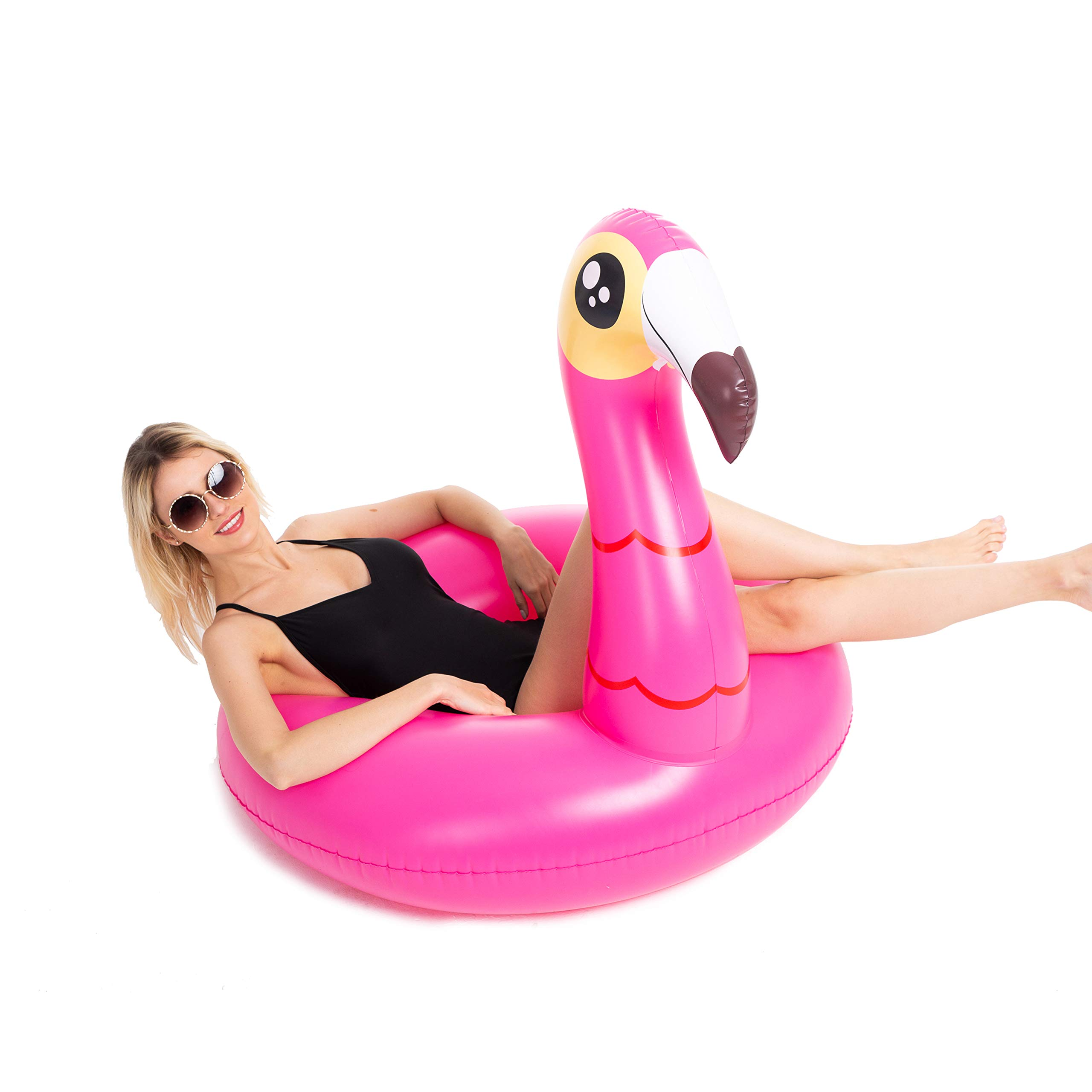 JOYIN Inflatable Flamingo and Unicorn Pool Float 2 Pack, Fun Beach Floaties, Swim Party Toys, Summer Pool Raft Lounger for Adults & Kids (Inflates to Over 4ft. Wide) by JOYIN (Image #4)