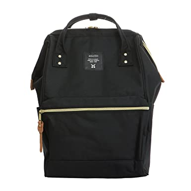 ea228e2ae4d8 Image Unavailable. Image not available for. Color  Anello AT-B0193A LARGE Backpack  Rucksack BLACK