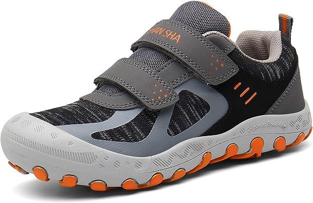 Amazon.com | Mishansha Outdoor Hiking Shoes Boys Girls Mesh Knit Low Top  Sneakers Trekking Walking Fitness Grey Toddler 7.5 | Hiking Shoes