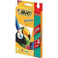 Lápis de Cor BIC Evolution, 12 cores + 4 Lápis de Escrever, 902545, 1 unidade