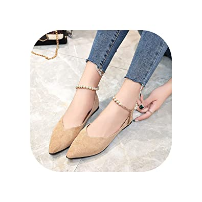 Amazon.com: Spring Zapatos planos para mujer, perlas de ...