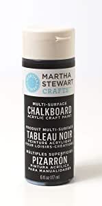 Martha Stewart Crafts Martha Stewart Multi-Surface Chalkboard Black, 6 oz Paint