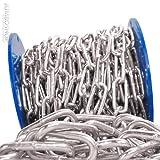 Seilwerk STANKE 5mm Rundstahlkette 32lfm langgliedrig Rolle Stahlkette -- DIN Eisenkette Stahl Eisen Kette abgerundet