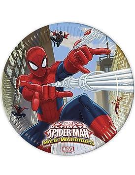 COOLMP - Juego de 12 Platos de Spiderman, 23 cm, Talla única ...