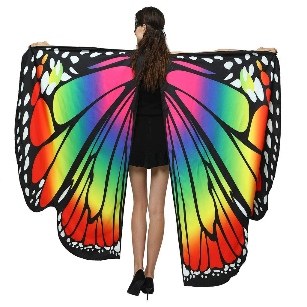 SHUSUEN Halloween Costumes for Women Butterfly Wings Shawl Fairy Christmas Festival Carnival Accessories by SHUSUEN