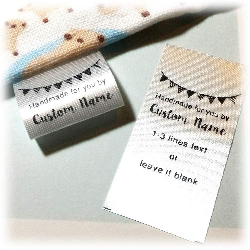 36e97f7f02f61 Amazon.com: 100 pcs Custom Text Logo Personalized Sewing Hanging ...