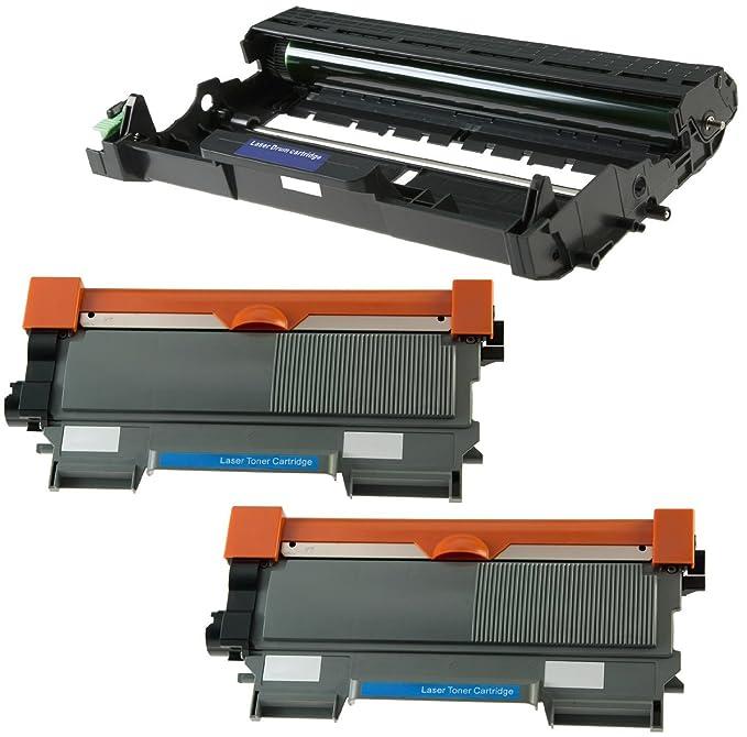 Compatible DR2200 Tambor & 2X TN2220 Tóner para Brother DCP-7055 ...