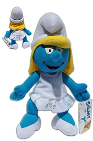 Pitufina 32cm Muñeco Peluche Azul Los Pitufos TV Smurfs