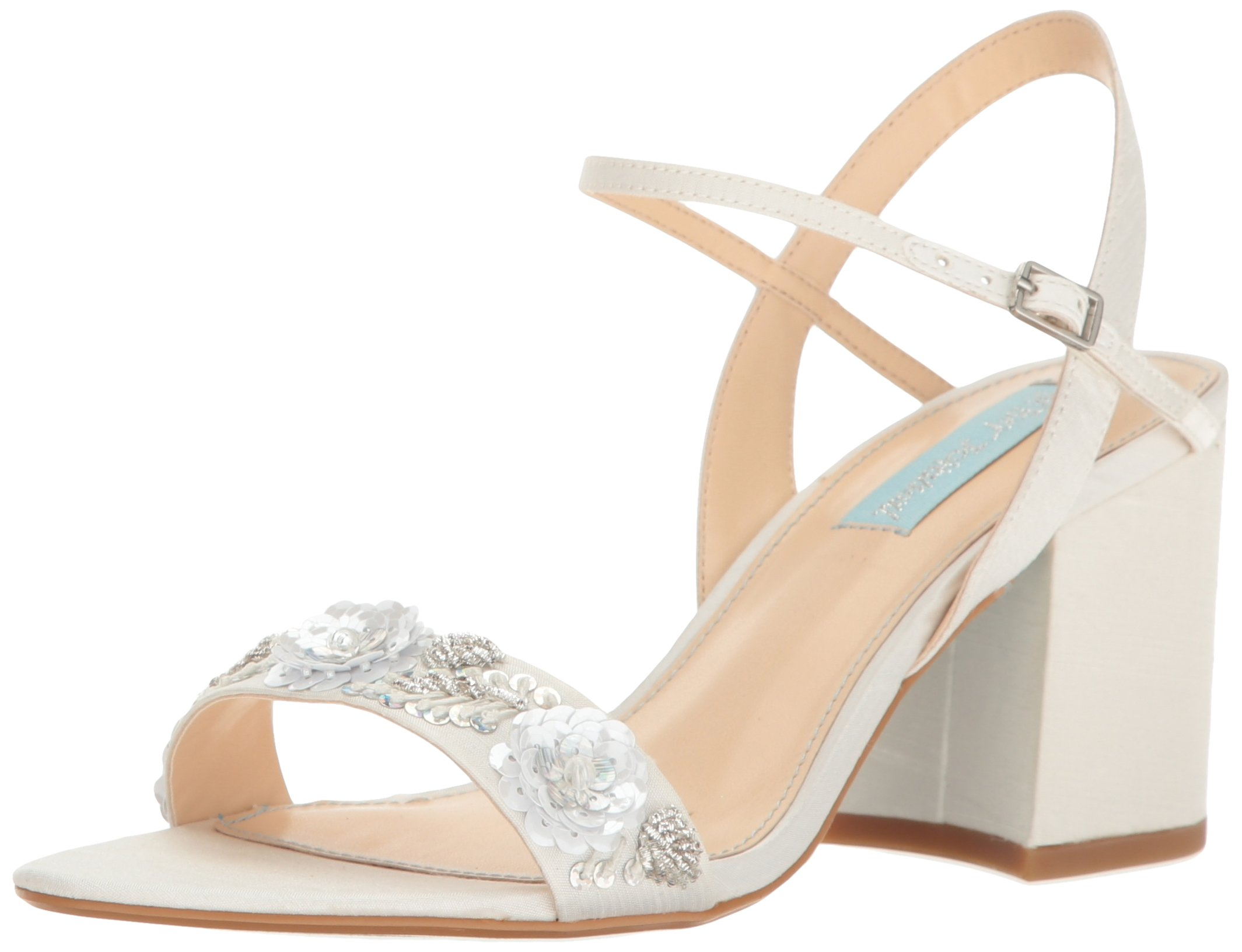 Blue by Betsey Johnson Women's Sb-Brett Dress Sandal, Ivory, 8.5 M US