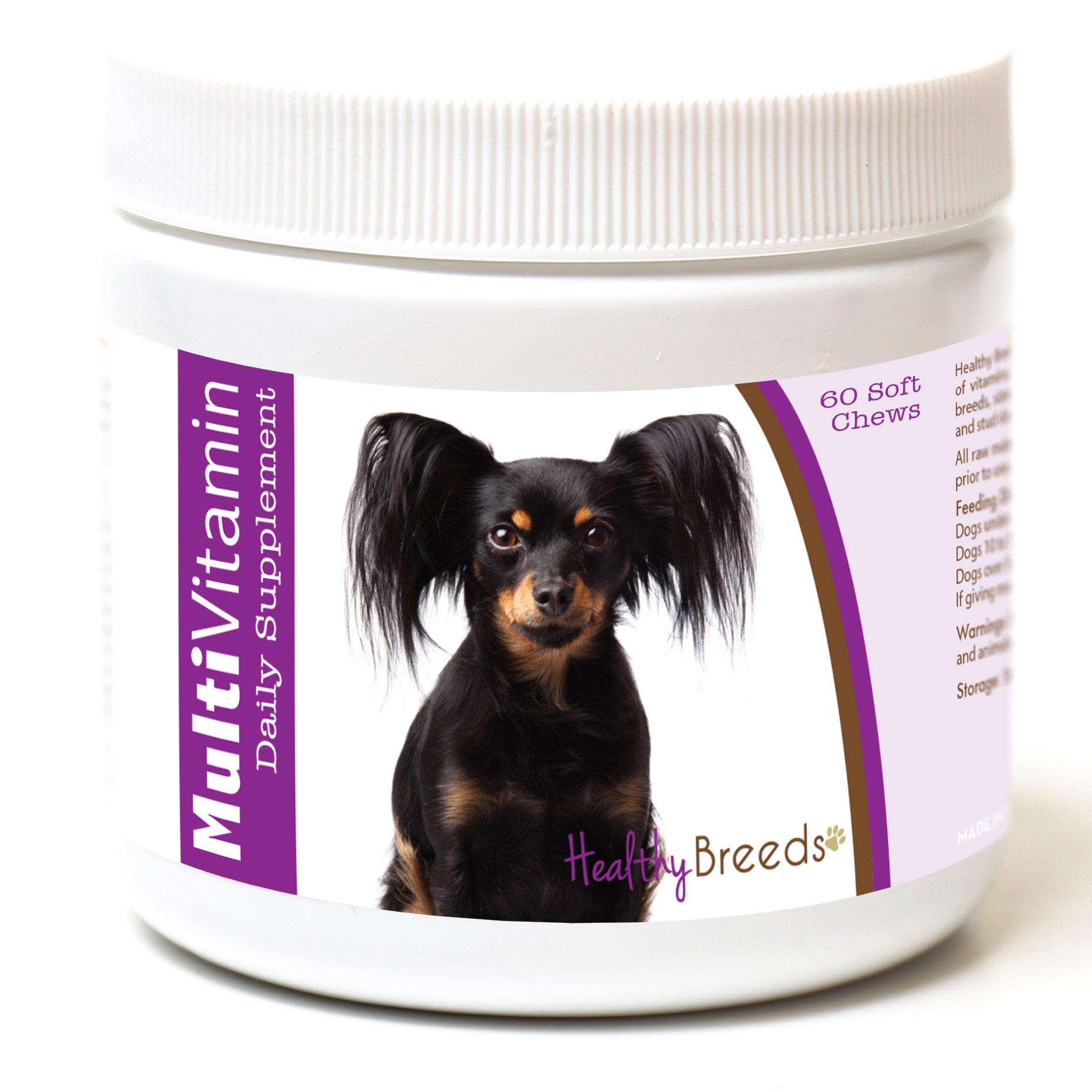 Healthy Breeds Multivitamin for Dogs Chewable for Russian Toy Terrier - Over 200 Breeds - for Small Medium & Large Breeds - Easier Than Liquid or Powders - 60 Chews