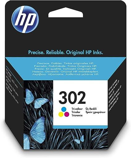 Oferta amazon: HP 302 F6U65AE, Cartucho de Tinta Original Tricolor, Compatible con impresoras de inyección de tinta HP DeskJet 1110,2130,3630; ENVY 4520; OfficeJet 3830,4650,5220,5230