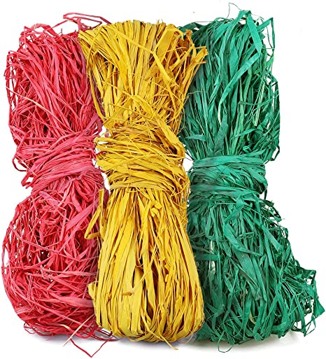 Color Raffia Ribbon,150g Raffia Twine,Paper String for Florist Bouquets Decoration Crafts Paper Weaving Ribbon