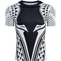 GYMGALA Aquaman t Shirt Short Sleeve Leisure and Sports Compression Shirt