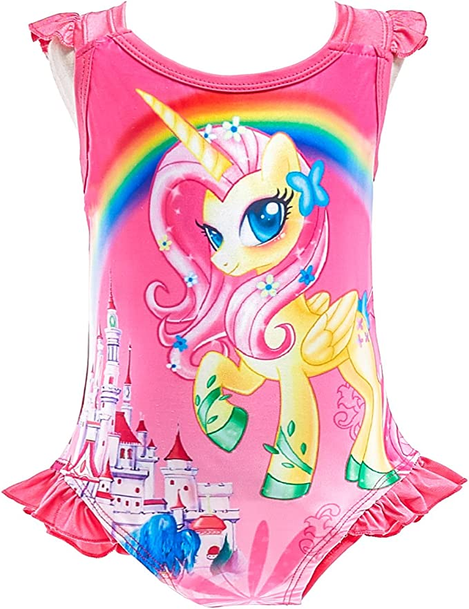 Dressy Daisy Girls Unicorn One Piece Bathing Suit Swimsuit Swimwear