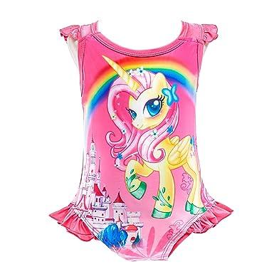 5b057c0979a69 Dressy Daisy Girls Unicorn One Piece Bathing Suit Swimsuit Swimwear Size 3T  Hot Pink 054