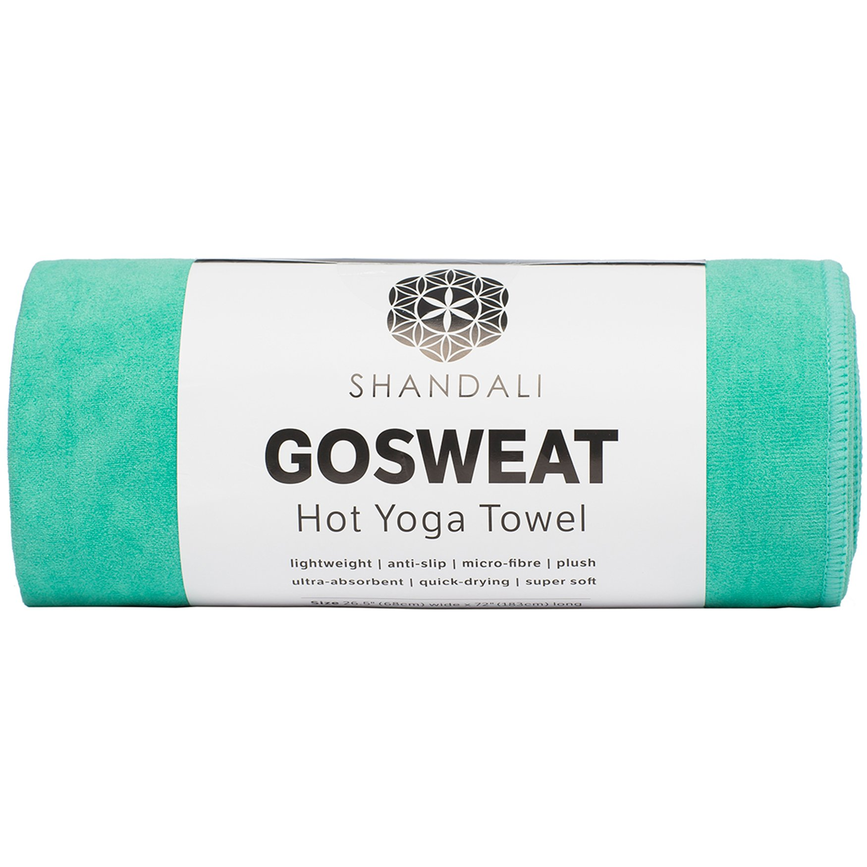 Shandali Gosweat Hot Yoga Towel, Color Teal, Size 26.5 X