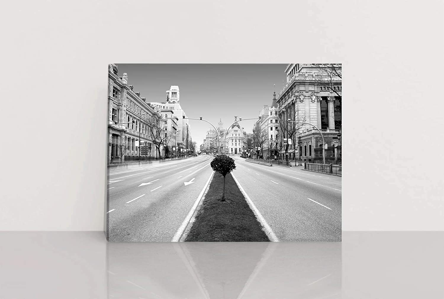 PRINTMAKERS Lienzo Madrid Blanco y Negro: Amazon.es: Hogar