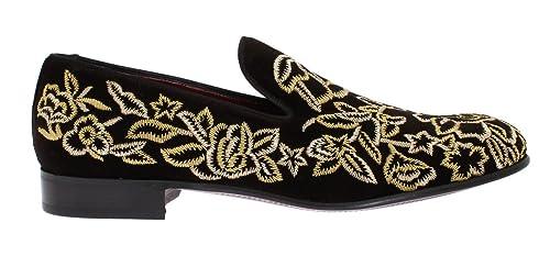 Dolce & Gabbana - Mocasines de Terciopelo para Hombre Marrón marrón, Color Marrón, Talla