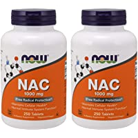 Now NAC 1000 mg, 250 Tablets, (Pack of 2) - N Acetyl Cysteine