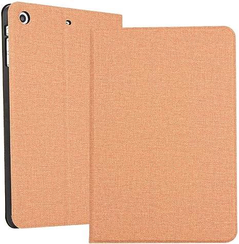 MINGFENG for iPad Mini 1 / Mini 2 / Mini 3 Textura de Tela Estuche de Cuero sólido Abierto a Izquierda y Derecha horizontales con Soporte para cinturón de Dormir (Color : Glod): Amazon.es: Electrónica