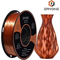 PLA Filament 1.75mm Silk Copper, ERYONE Silky Shiny Filament PLA 1.75mm, 3D Printing Filament PLA for 3D Printer and 3D Pen, 1kg 1 Spool