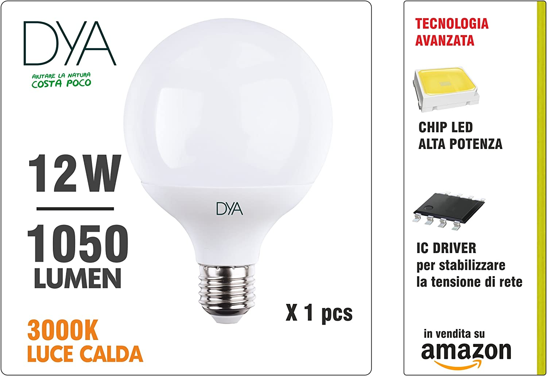 Luce Bianca Calda 3000/°K Beghelli Superled Globo Lampadina LED