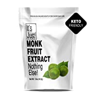 It's Just - 100% Monkfruit Extract Powder, Keto Friendly Sweetener, Monk Fruit,...