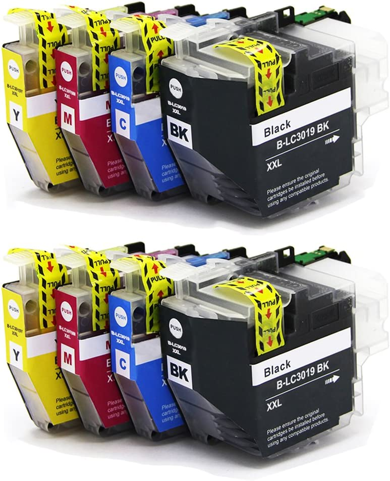 ESTON LC3019 Super High Yield Replacements for Brother LC-3019 XXL LC3019 BK//C//M//Y Ink Cartridges-8 Pack for MFC-J5330DW MFC-J6530DW MFC-J6930DW MFC-J6730DW Printer