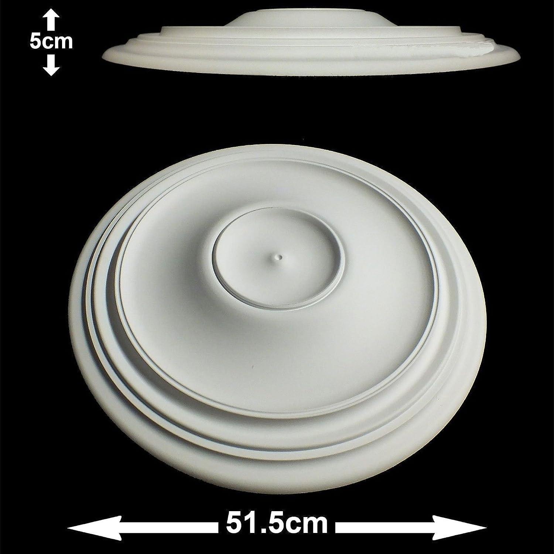 Arabella Ceiling Rose Lightweight Resin 51cm x 5cm Paintable Easy Fix NMC
