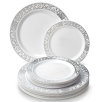 240-piece de Posh veneciano Juego de vajilla | 120 pcs platos llanos y 120