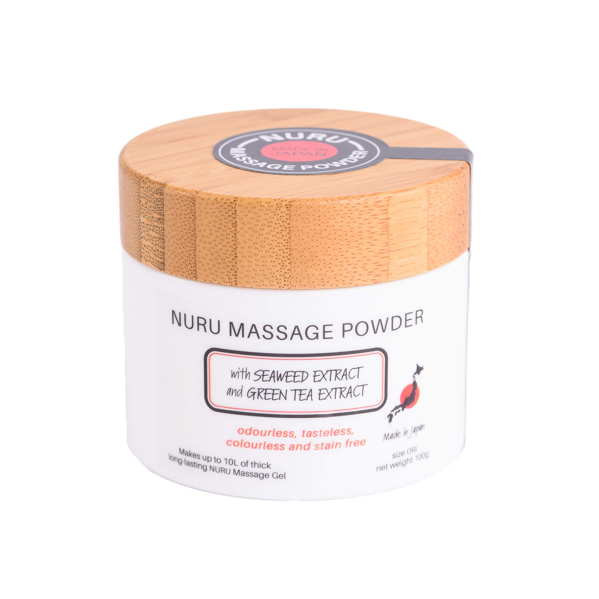 Massage Gel Powder 100g with Seaweed Extract and Green Tea Extract Makes 10L of Massage Gel Made In Japan Paraben and Glycerin Free