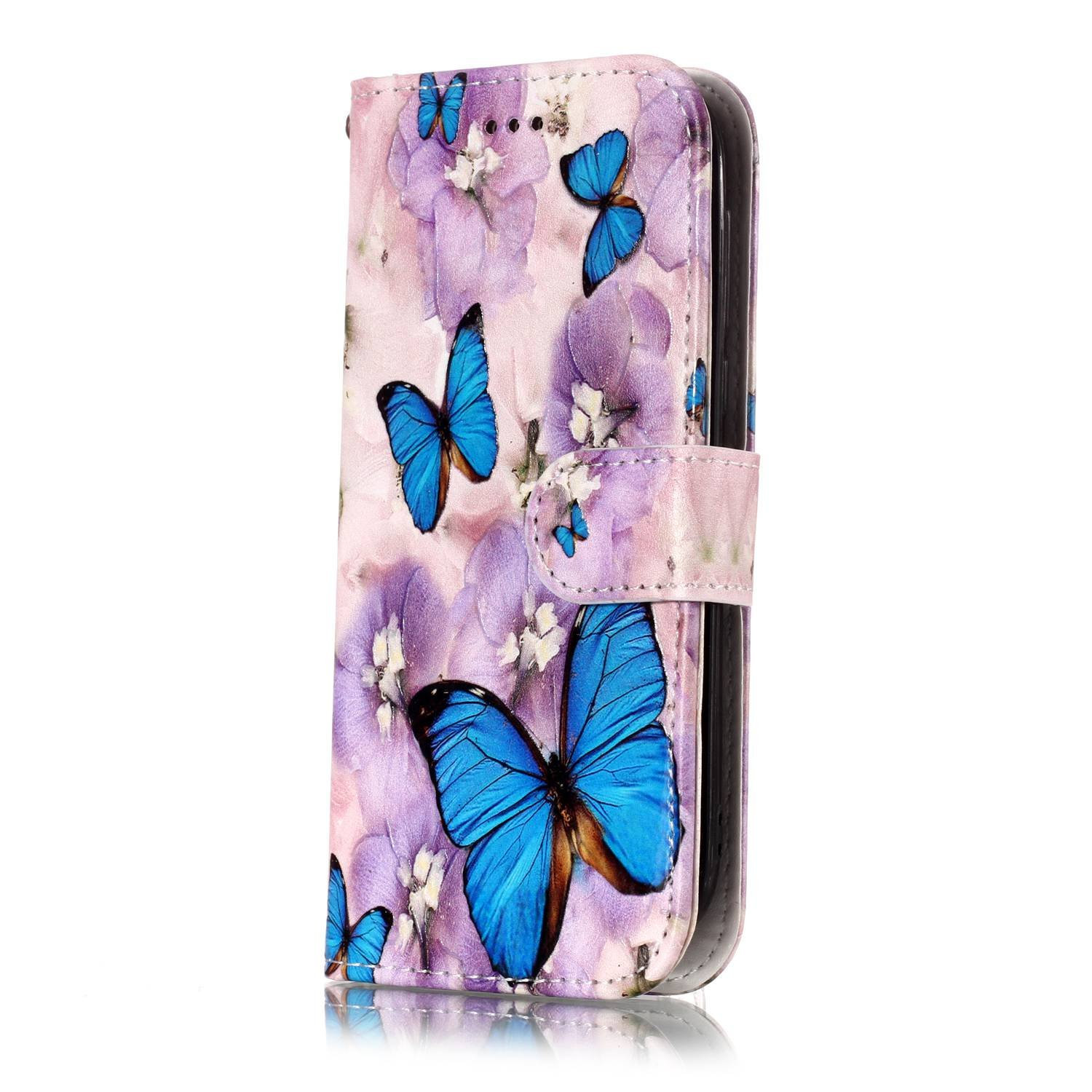 Surakey Flip Case Leather Protection Shell Wallet Retro Pattern Flip Cover with Stand Function Credit Card Slots for Nokia 1,Colorful Mandala Nokia 1 Leather Case