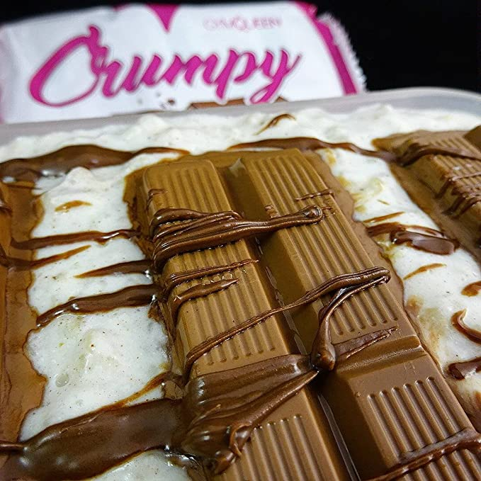 Gofres de chocolate GymQueen Crumpy, la seducción dulce y crujiente, con 86 % menos de azúcar que los gofres de chocolate convencionales: Amazon.es: Salud y ...