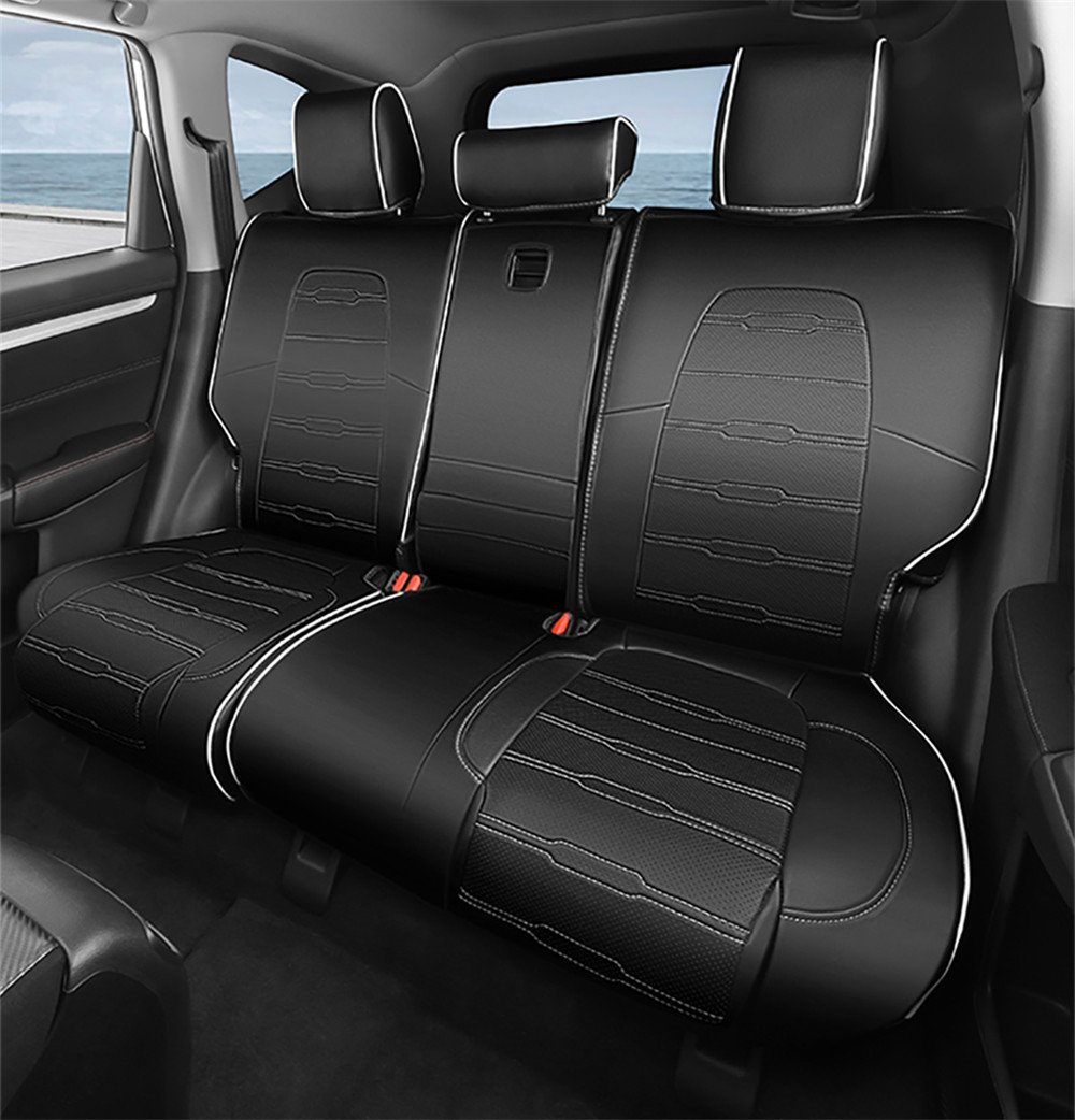 Car Seat Cover Design >> Bwen Zdc0513a Car Seat Covers Leather Custom Full Set Seat Covers For Honda Crv 2017 2018 Black With White Stitches