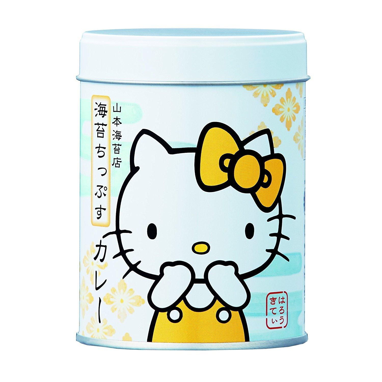 Yamamoto-Noriten x Hello Kitty Seaweed Chips Flavored Seaweed Assorted 4 flavors(Plum, Sesami, Yuzu Honey, Curry) Made in Japan [Japan Import] by Yamamoto-Noriten (Image #5)