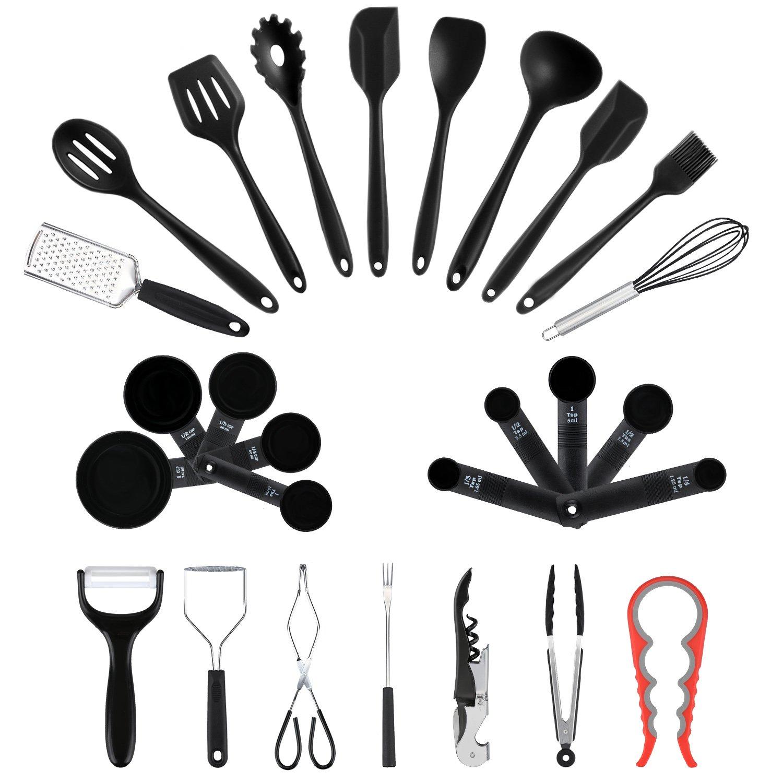 Sigdio 27 teiliges-Set Küchenhelfer Set Küchenutensilien Kochbesteck ...