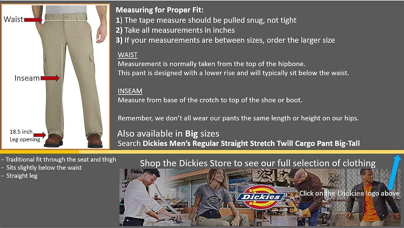 Dickies Mens Regular Straight Stretch Twill Cargo Pant