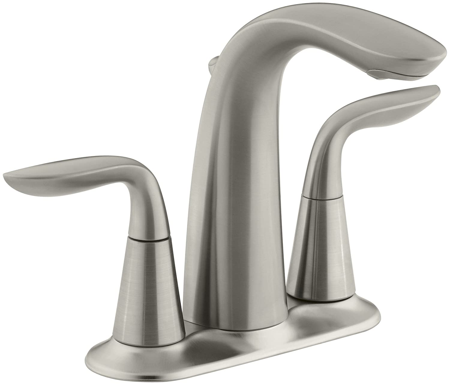 kohler k 5316 4 bn refinia centerset lavatory faucet vibrant kohler k 5316 4 bn refinia centerset lavatory faucet vibrant brushed nickel touch on bathroom sink faucets amazon com