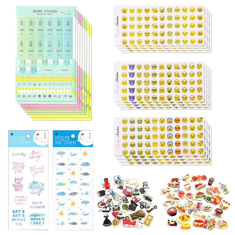 Scrapbook Pegatinas - Calendario conjuntos de pegatinas y ...