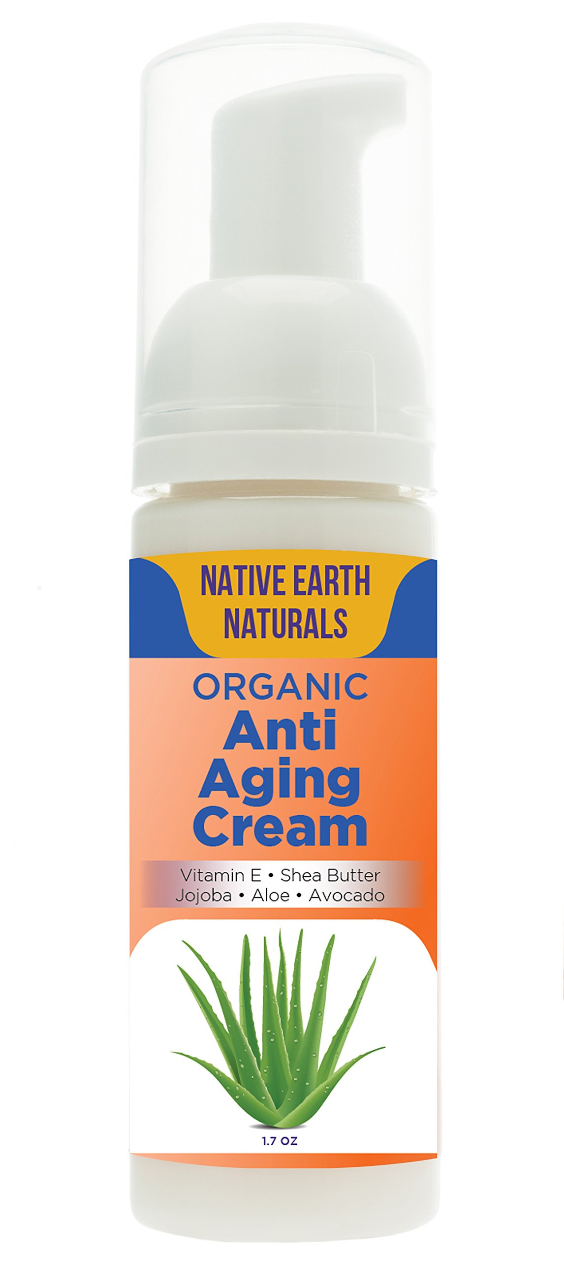 Anti Aging Cream: Feel Softer, Reduce Dark Circles, Silky Natural Glow, Balance, Tone, 98% Organic, Anti Wrinkle Cream, Moisturizer, Face/Eyes/Day/Night, Essential Oils, NEW LOOK/Same Great Product!
