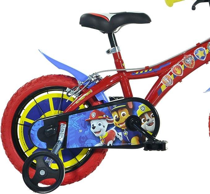 Bicicleta para niños DINO BIKES 614-PW tamaño 14 PAW PATROL edad de 3 a 6 años: Amazon.es: Deportes y aire libre