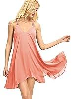 Romwe Women's Summer Sexy Sleeveless Strappy Swing Dress