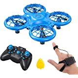 Dragon Touch DK01 Mini Drones for Kids, Multiple Remote Controls-Hand Operated RC Quadcopter, G-Sensor Mode, 3D Flips, Altitu