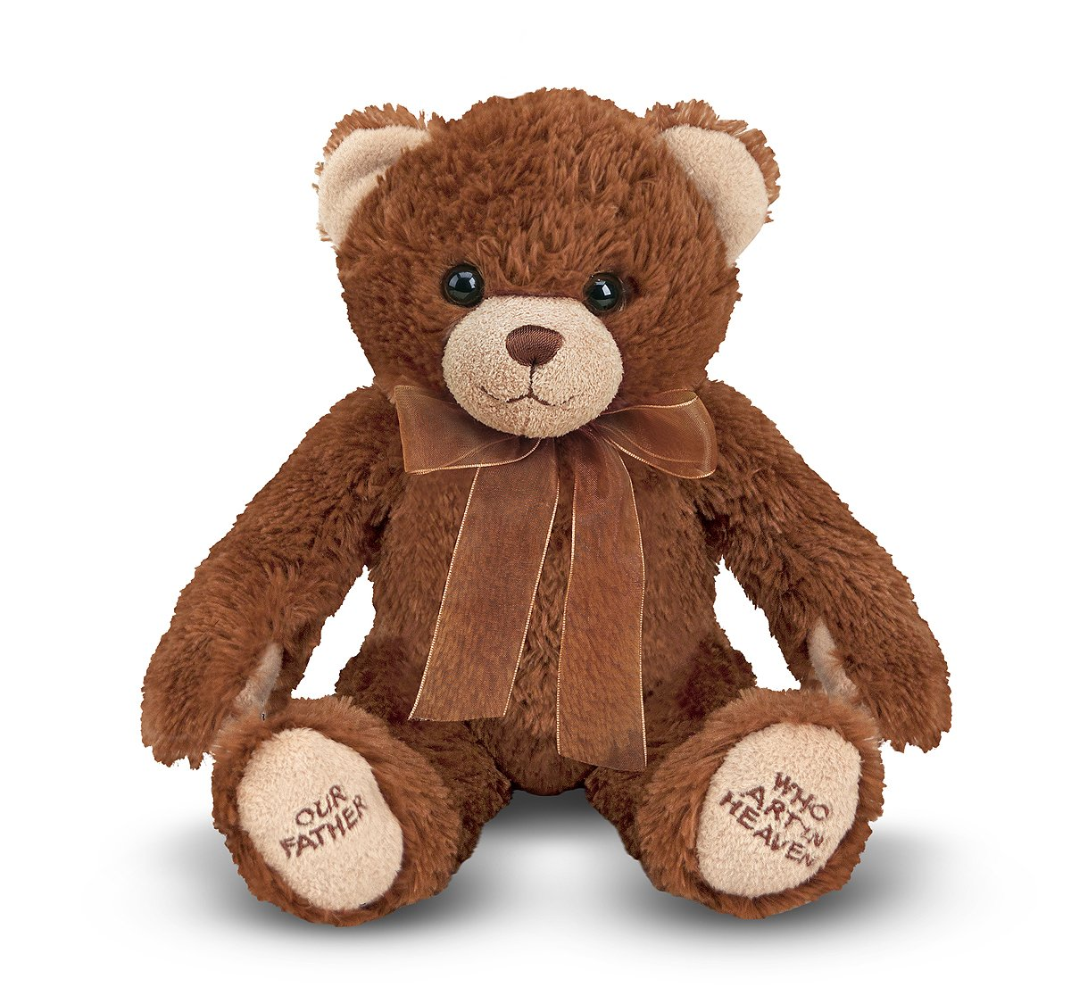 amazon com melissa u0026 doug lord u0027s prayer bear stuffed animal