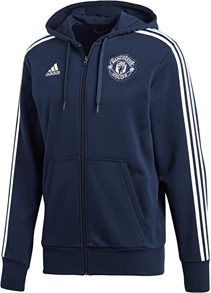 adidas MUFC 3S FZ HD – Veste Manchester United FC, Homme