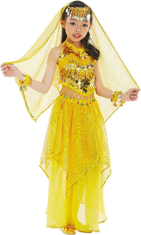 BellyQueen Belly Dance 7 Piezas Cojunto Danza Oriental Traje Top ...