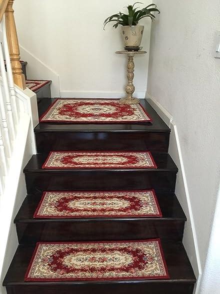 Acrylic Non Slip Stair Runners Rug Stair Treads Carpet Stair Landing Door  Mat Custom Size
