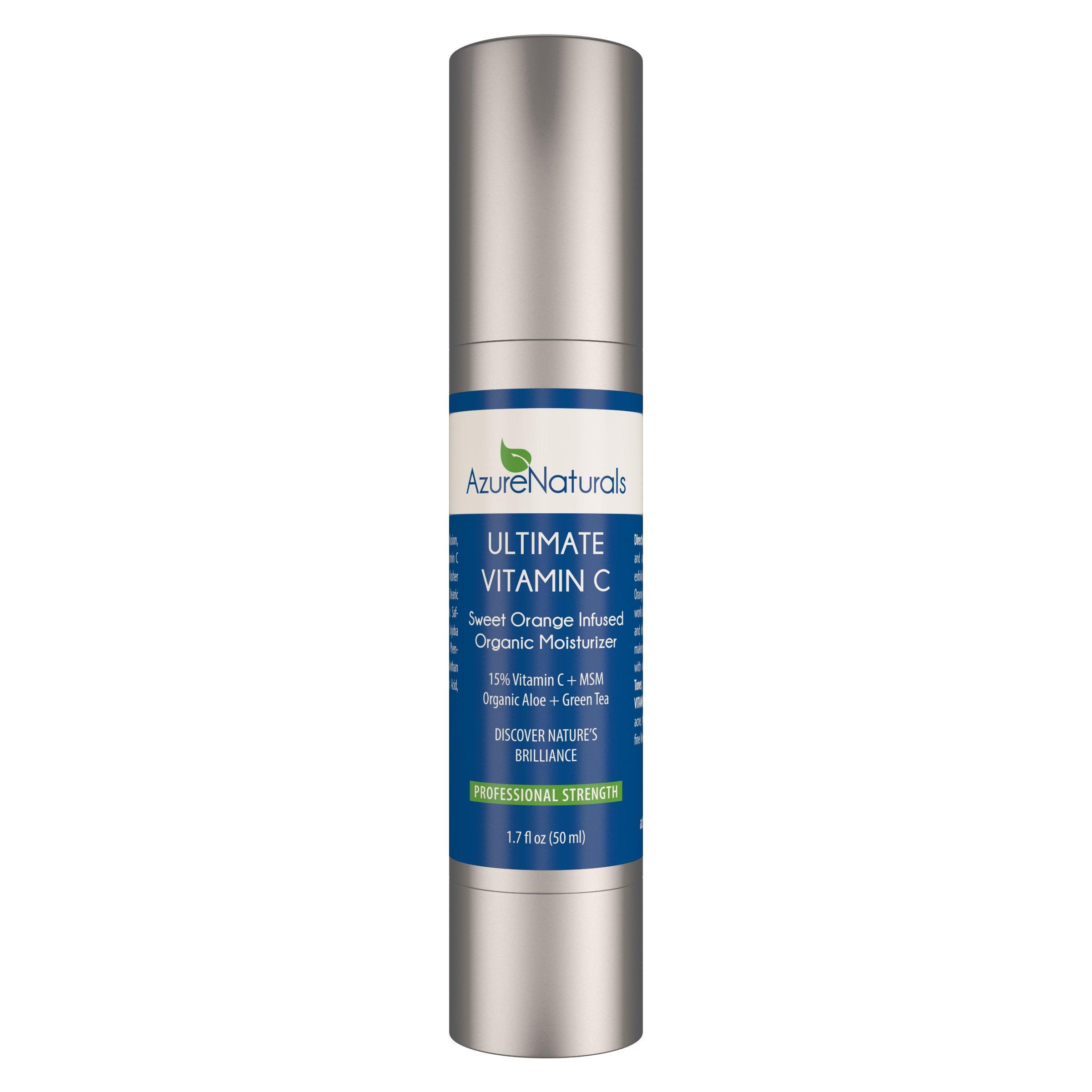 SWEET ORANGE 15% VITAMIN C Organic Facial Moisturizer, New Advanced Anti Aging Formula Softens, Heals, & Protects Dry Skin, Best Natural Vitamin C Cream, Anti-Aging Organic Skin Care Product!