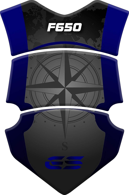 F650 Blue Tankpad Motorad Draht Muster Tankschutz Polymer KOMPATIBEL BM.W F 650 GS